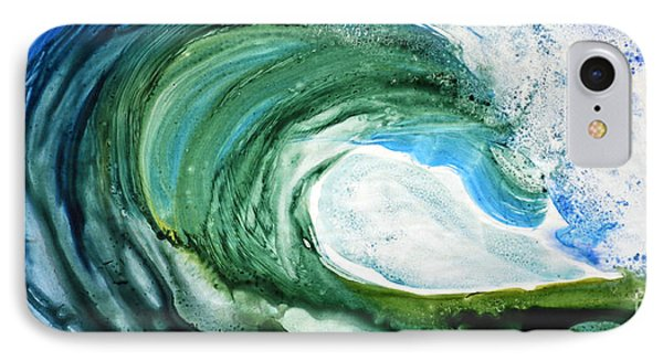 IPhone Case featuring the painting The Curl by Joan Hartenstein
