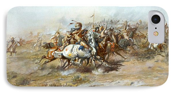 The Custer Fight Phone Case by Charles Russell