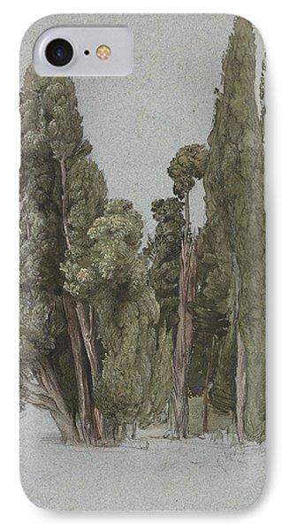 The Cypresses At The Villa D'este, Tivoli IPhone Case