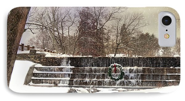 IPhone Case featuring the photograph The Dam At Christmas by Robin-Lee Vieira