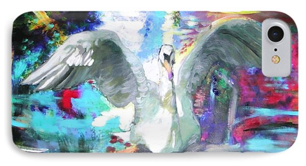 The Dance Of The Swan IPhone Case by Marie-Line Vasseur