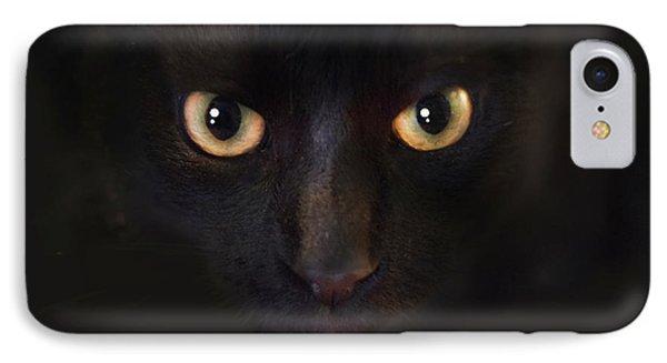 The Dark Cat IPhone Case by Gina Dsgn
