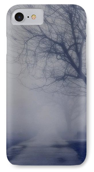 The Dark Foggy Graveyard Road IPhone Case by Gothicrow Images