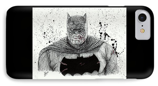 The Dark Knight IPhone Case by Wave Art