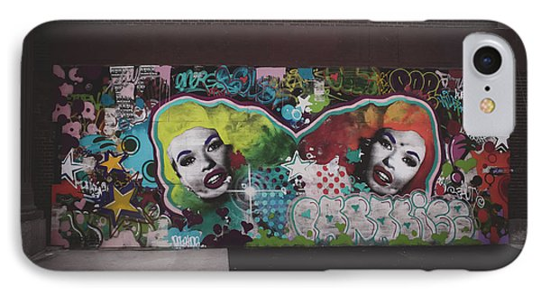 IPhone Case featuring the photograph The Dark Side -  Graffiti by Colleen Kammerer