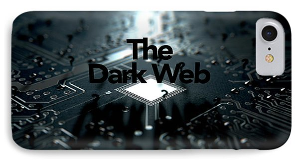 The Dark Web Concept IPhone Case by Allan Swart