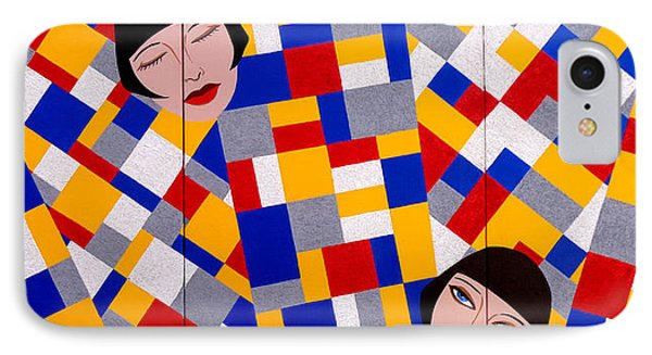 The De Stijl Dolls Phone Case by Tara Hutton