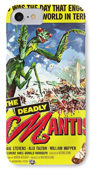 The Deadly Mantis 1957 IPhone Case by Mountain Dreams