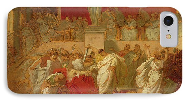 The Death Of Caesar  IPhone Case by Vincenzo Camuccini