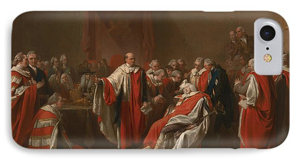 The Death Of Chatham IPhone Case by Benjamin West