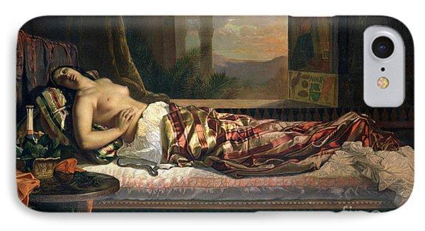 The Death Of Cleopatra IPhone Case by German von Bohn