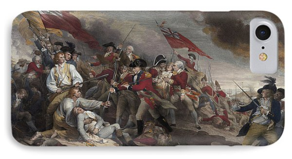 The Death Of General Warren At The Battle Of Bunker Hill, 17th June 1775 IPhone Case