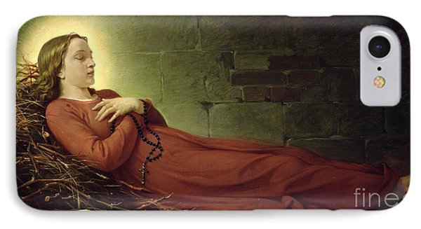 The Death Of Germaine Cousin The Virgin Of Pibrac IPhone Case by Alexandre Grellet