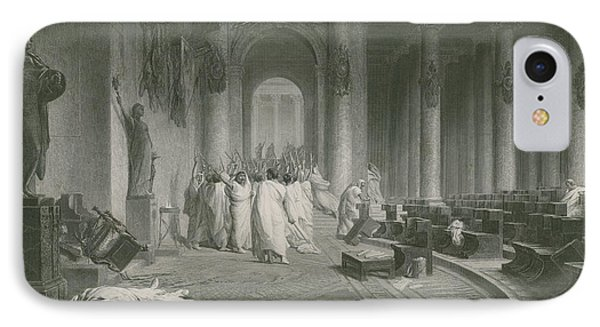 The Death Of Julius Caesar IPhone Case by Jean Leon Gerome