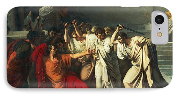 The Death Of Julius Caesar IPhone Case by Vincenzo Camuccini