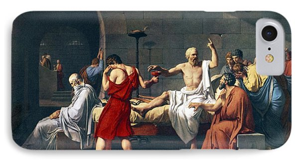 The Death Of Socrates, 1787 Artwork Phone Case by Sheila Terry