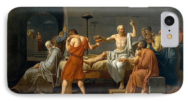 The Death Of Socrates - Jacques-louis David  IPhone Case by War Is Hell Store