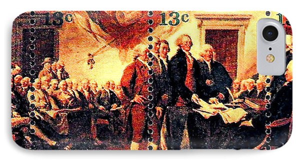 The Declaration Of Independence  Phone Case by Lanjee Chee