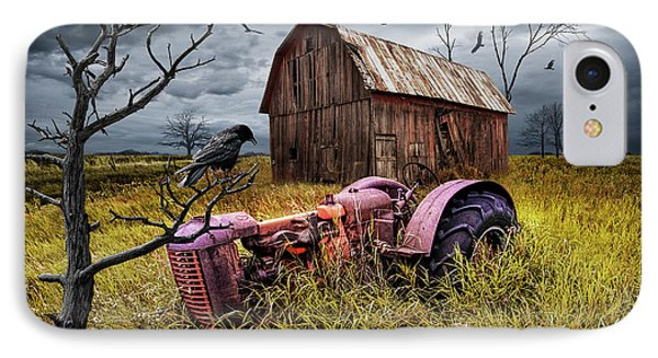 IPhone Case featuring the photograph The Decline And Death Of The Small Farm by Randall Nyhof