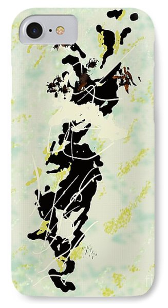 The-deep-1953-jackson-pollock Representation By Louis-art IPhone Case by Louis Art