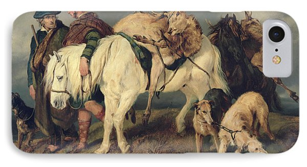 The Deerstalkers Return IPhone Case by Sir Edwin Landseer