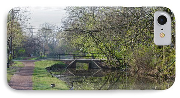 The Delaware Canal - Morrisville Pennsylvania IPhone Case by Bill Cannon
