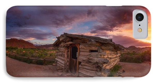 The Delicate Little Cabin IPhone Case by Darren  White