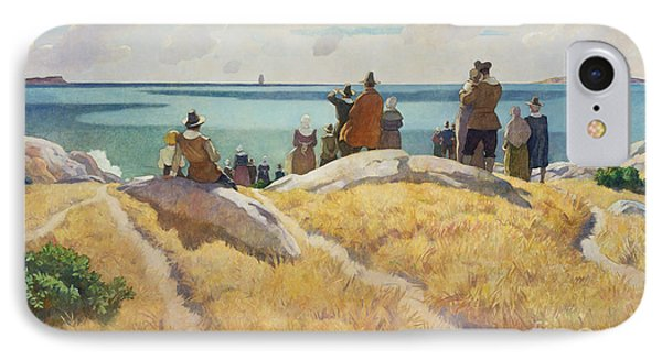 The Departure Of The Mayflower For England In 1621 IPhone Case by Newell Convers Wyeth