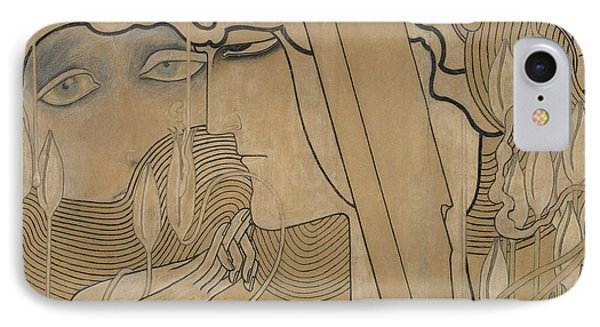 The Desire And The Satisfaction Phone Case by Jan Theodore Toorop
