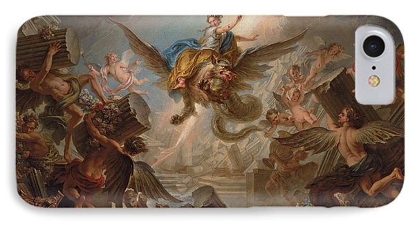 The Destruction Of The Palace Of Armida IPhone Case by Charles Antoine Coypel