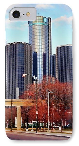 The Detroit Renaissance Center Phone Case by Gordon Dean II