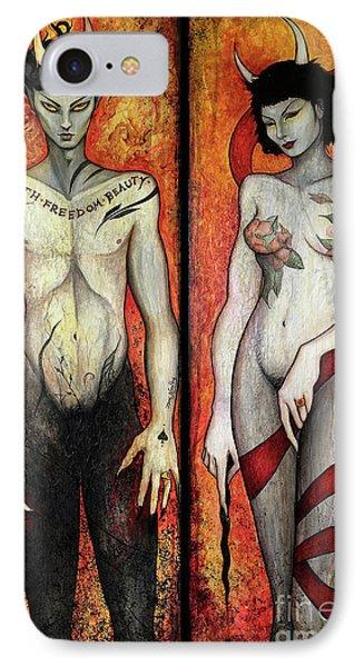 The Devils Phone Case by Dori Hartley