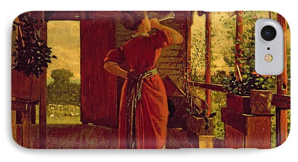 The Dinner Horn IPhone Case by Winslow Homer