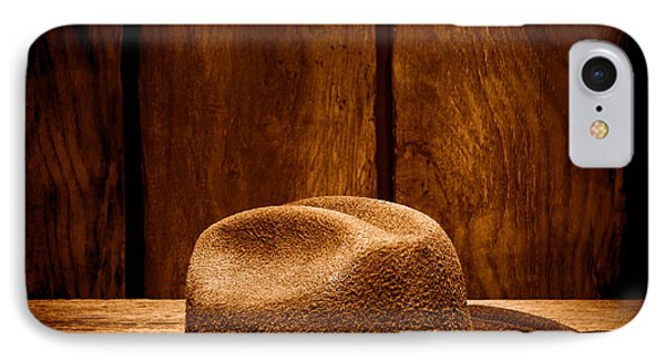 The Dirty Brown Hat - Sepia IPhone Case by Olivier Le Queinec