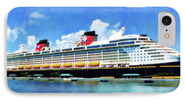 IPhone Case featuring the painting The Disney Dream In Nassau by Sandy MacGowan