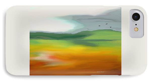 The Distant Hills IPhone Case by Lenore Senior