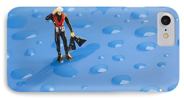 IPhone Case featuring the photograph The Diver Among Water Drops Little People Big World by Paul Ge