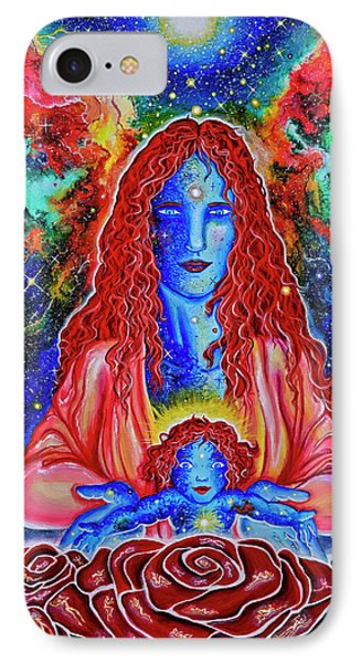 The Divine Mother And Child IPhone Case by Marika Segal