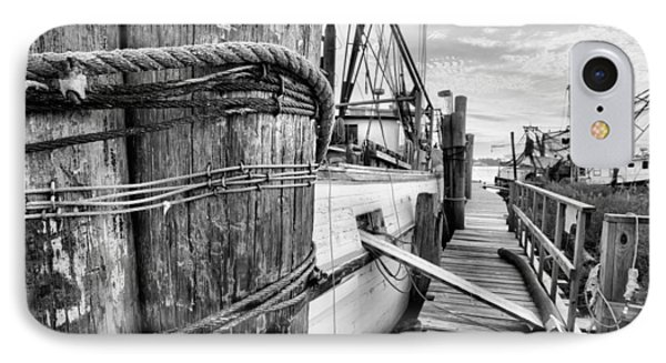 The Docks Of Bon Secour Black And White IPhone Case