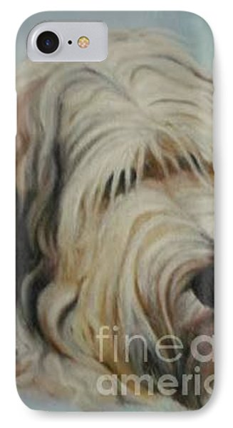 IPhone Case featuring the painting The Dog by Sorin Apostolescu