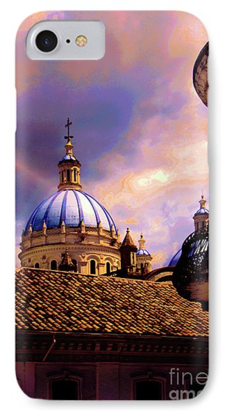 The Domes Of Immaculate Conception, Cuenca, Ecuador Phone Case by Al Bourassa