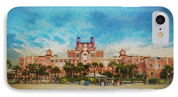 The Don Cesar Resort IPhone Case by Marvin Spates