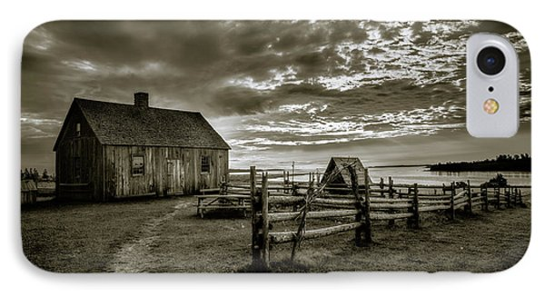 The Doucet House - Bw IPhone Case by Chris Bordeleau