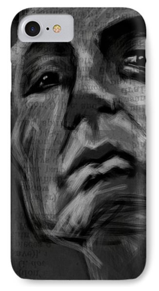 The Downward Gaze IPhone Case
