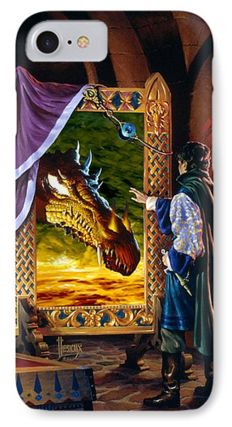 The Dragon Mirror IPhone Case by Richard Hescox