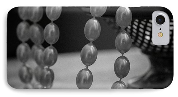 The Drama Of Pearls IPhone Case by Patrice Zinck