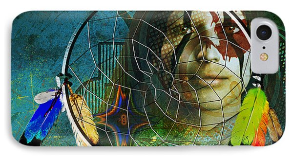 IPhone Case featuring the digital art The Dream Catcher by Shadowlea Is