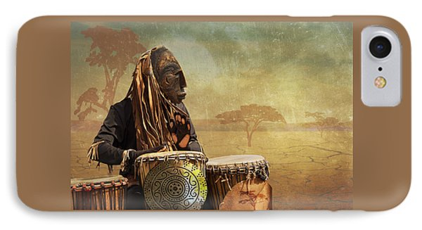 IPhone Case featuring the photograph The Dream Of His Drums by Christina Lihani