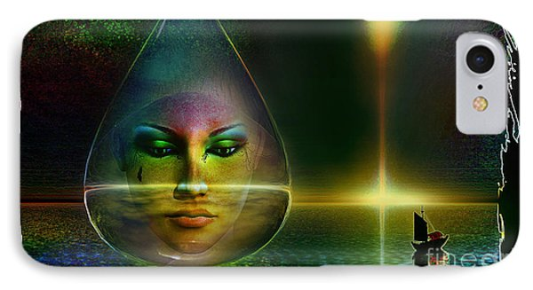 IPhone Case featuring the digital art The Drop by Shadowlea Is
