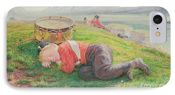 The Drummer Boy's Dream IPhone Case by Frederic James Shields